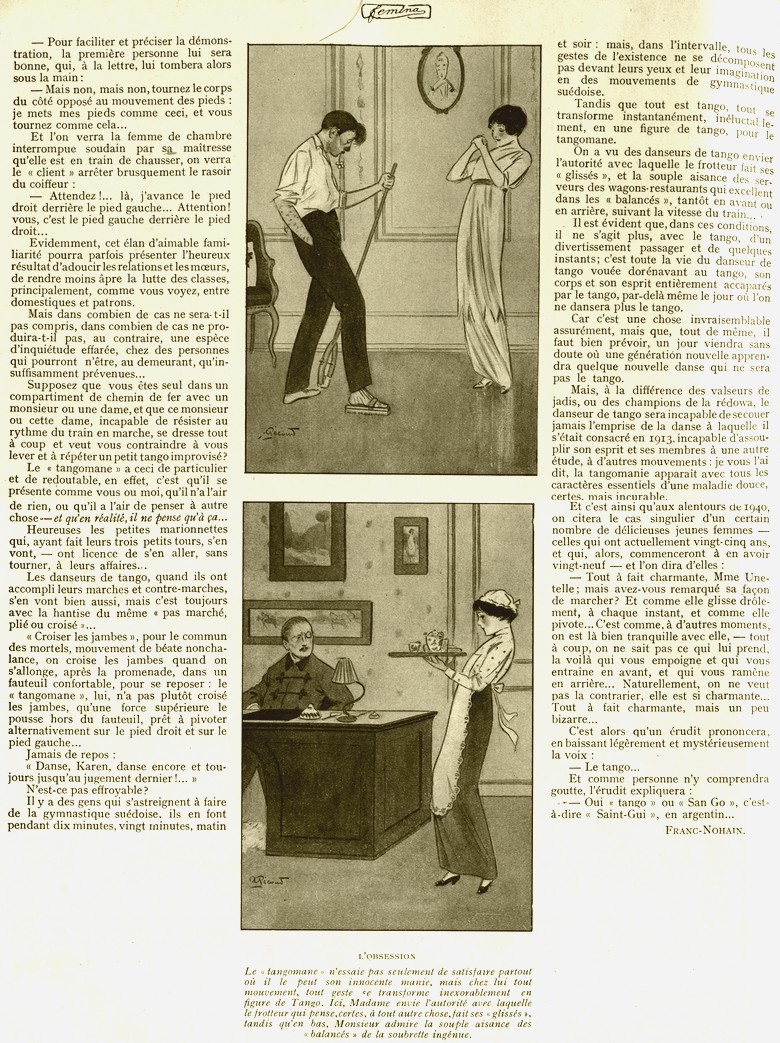 revue femina 15 juillet 1913 la tangomania. Black Bedroom Furniture Sets. Home Design Ideas
